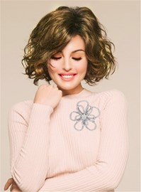 Ericdress Short Curly Bob Synthetic Hair Capless Women Wig 10 Inches