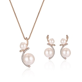 Ericdress Pearl Pendant Diamante Women's Jewelry Set
