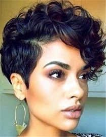 Ericdress Short Curly Synthetic Hair Capless African American Wigs 6 Inches