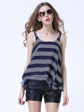Ericdress Striped Loose Comfy Tank Top