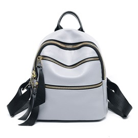 Ericdress Preppy Chic Double Zipper Design Backpack