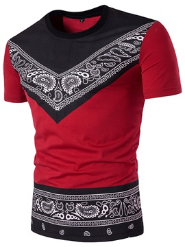 Ericdress Dashiki Ethnic Style Short Sleeve Crew Neck Men's T-Shirt
