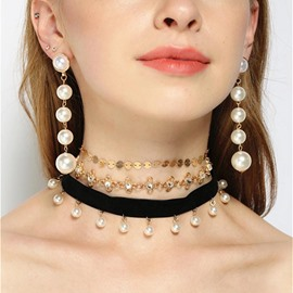 Ericdress Surpeb Pearl Series Jewerly Set for Women