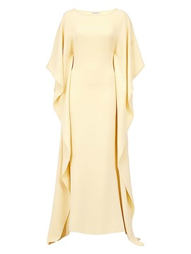 Ericdress Scoop Solid Color A-Line Maxi Dress