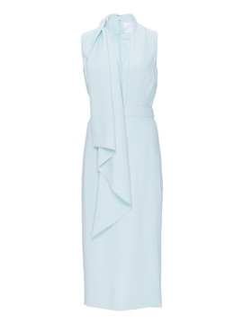 Ericdress Sleeveless V-Neck Knee-Length Asymmetrical Plain Dress