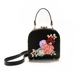 Ericdress Flower Rhinestone Design Crossbody Bag