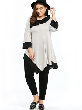 Ericdress Irregular Plus Size Comfy T-Shirt