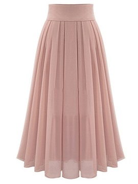 Ericdress High-Waist Chiffon Expansion Pleated Ankle-Length Women's Skirt
