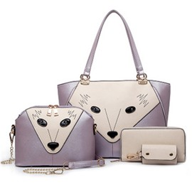 Ericdress Personality Wolf Design Handbag(4 Bags)
