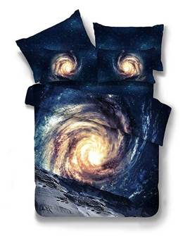 Vivilinen Galaxy 3D Printed Polyester 4-Piece Bedding Sets/Duvet Covers