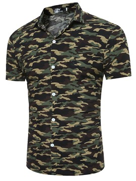 Ericdress Camouflage Short Sleeve Casual Men's Shirt