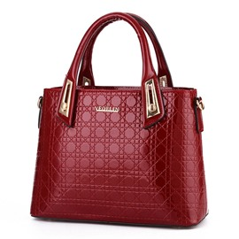 Ericdress Occident Style Bright PU Leather Handbag