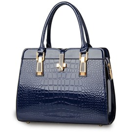 Ericdress Crocodile Grain Solid Color Handbag