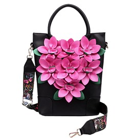 Ericdress Vintage Exotic Floral Embroidery Travel Handbag