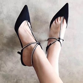 Ericdress Point Toe Slim Strap Stiletto Sandals