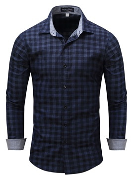 Ericdress Long Sleeve Plaid Quality Casual Men's Shirt