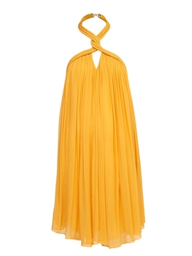 Ericdress Plain Halter Pleated Casual Dress