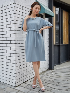 Round Neck Batwing Sleeve Party Dress