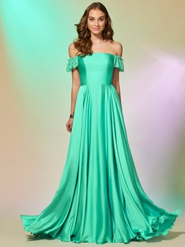 Ericdress A Line Off The Shoulder Floor Length Prom Dress
