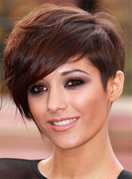 Ericdress Natural Bushy Glossy Loose Boycut Synthetic Short Straight Hair Capless Women Wigs 6 Inches