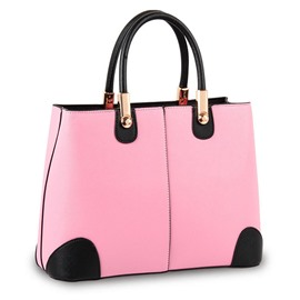 Ericdress Concise Color Block PU Handbag