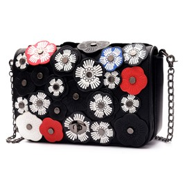 Ericdress Handmade Flower Adornment Crossbody Bag