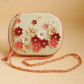 Ericdress Cool Floral Pattern Knitted Shoulder Bag