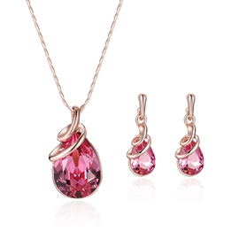 Ericdress Pear Cut Ruby Pendant Jewelry Set for Women