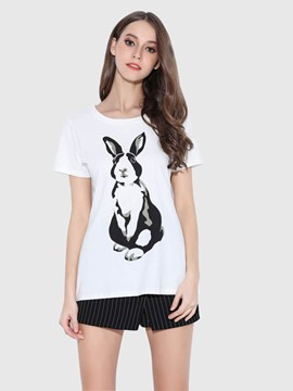 Ericdress Cartoon Print Casual T-Shirt