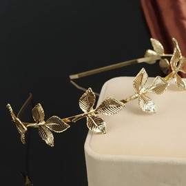 Ericdress Vintage Leaf-Shaped Gold Hair Accessories