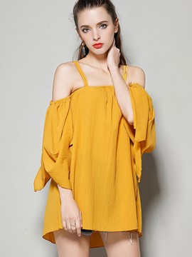 Ericdress Cold Shoulde Loose Comfy T-Shirt