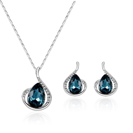 Ericdress Pear Cut Blue Sapphire Diamante Women's Jewelry