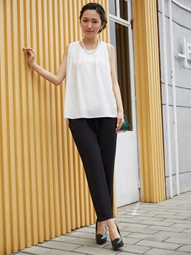 Loose Tank Top And Ankle Length Pants Suit