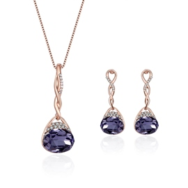 Ericdress Oval Cut Amethyst Two-Piece Jewelry Set