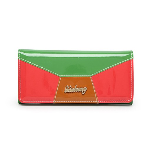 Ericdress Glossy Color Block Long Type Wallet