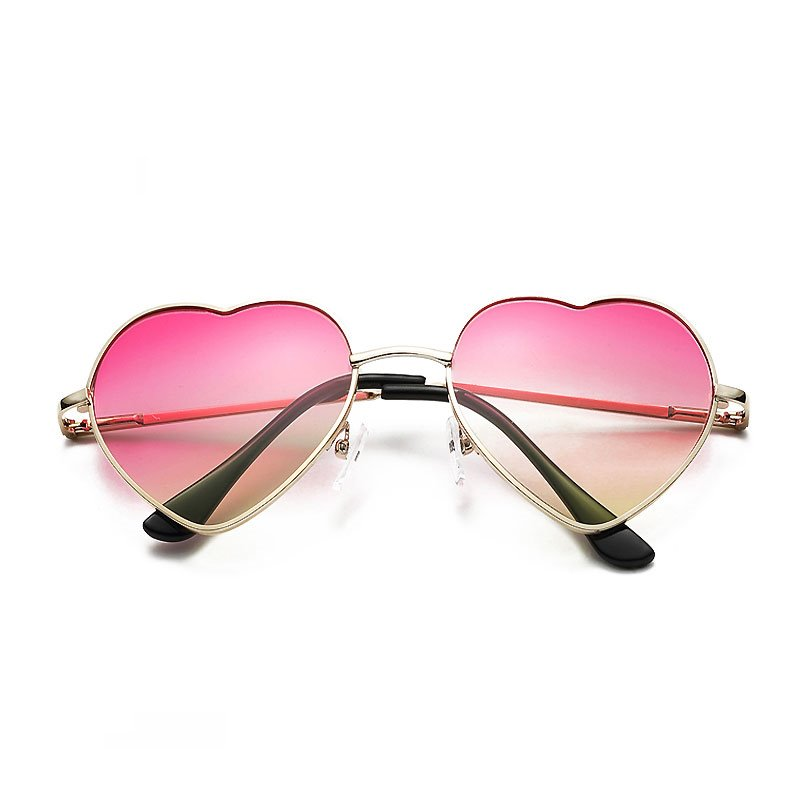 Ericdress Heart Pink Sweet Sunglass for Women 12845311