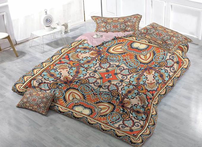 3D Ornamental Pattern Printed Cotton 4-Piece Bedding Sets/Duvet Covers
