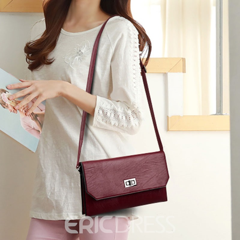 Ericdress Simple Big-capacity PU Shoulder Bag