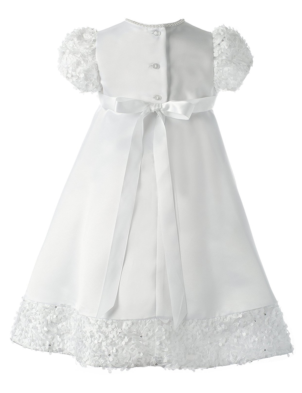 Ericdress Appliques Beading Scoop Baby Girl Christening Baptism Dress
