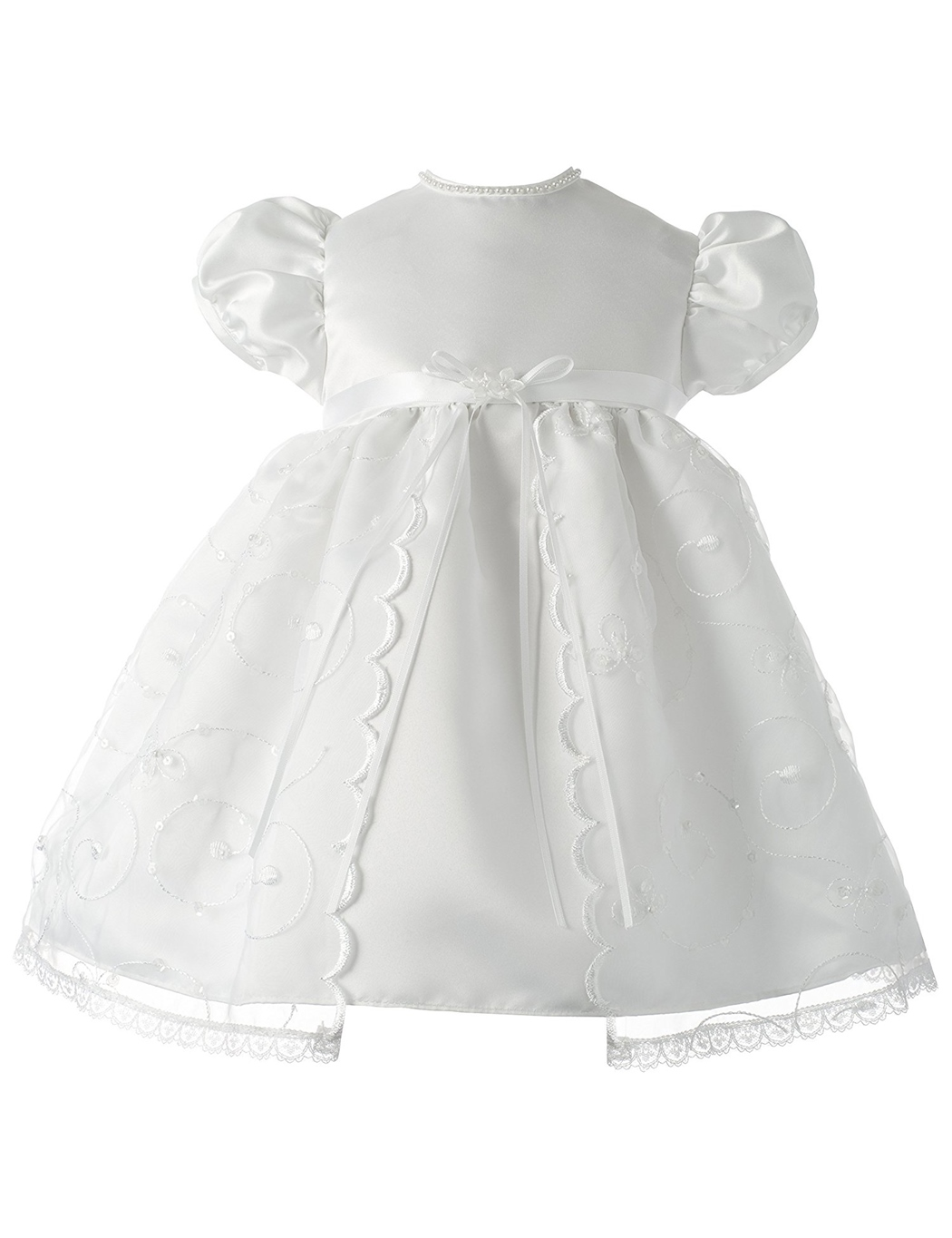 Ericdress Short Sleeves Beading Christening Gown for Baby Girls