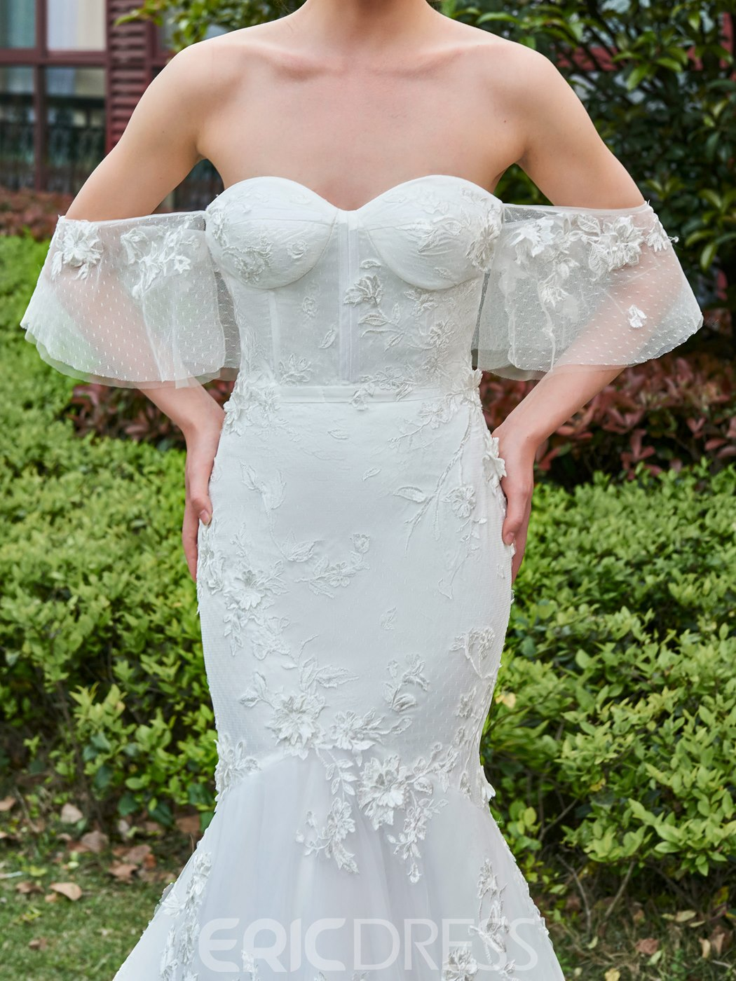 Ericdress Gorgeous Off Shoulder Mermaid Lace Wedding Dress