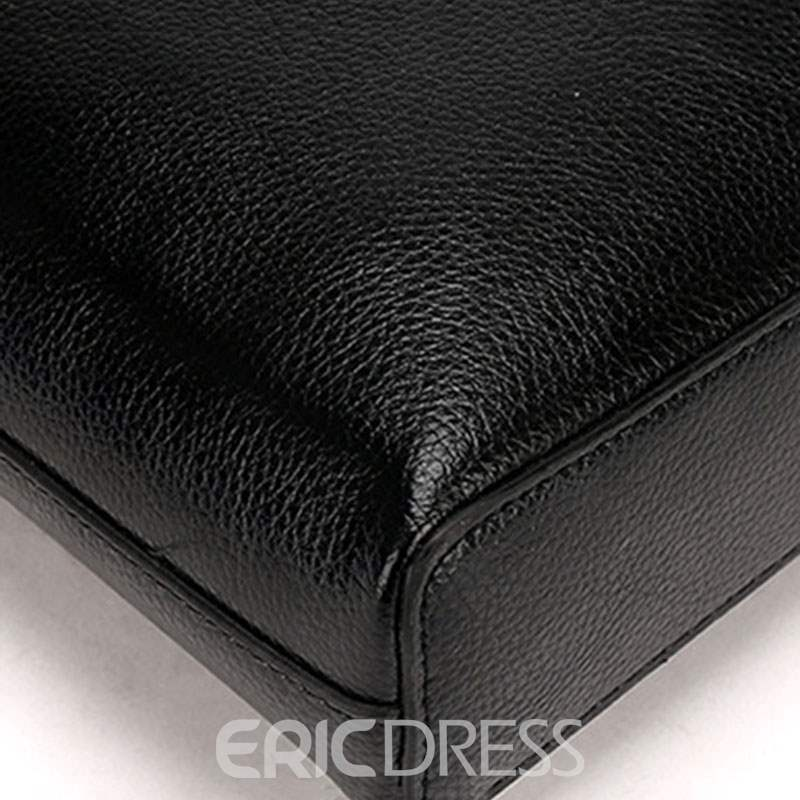 Ericdress Plain Thread PU Men's Tote Bags