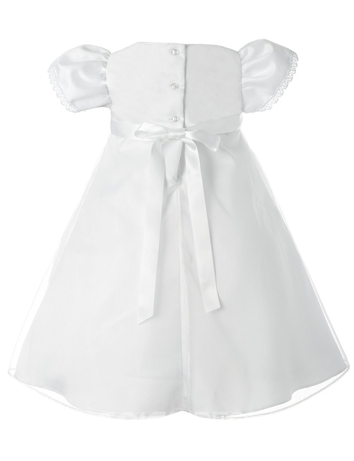Ericdress Beautiful Cap Sleeves Baby Girl Christening Gown with Headband