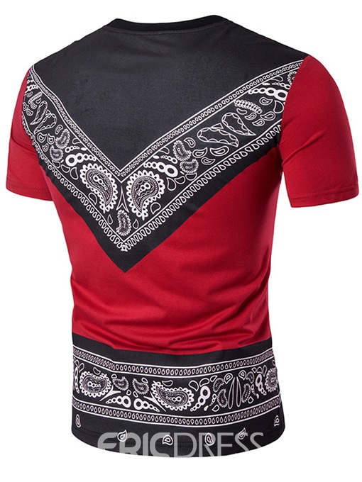 Ericdress African Fashion Dashiki Crew Neck Men's T-Shirt