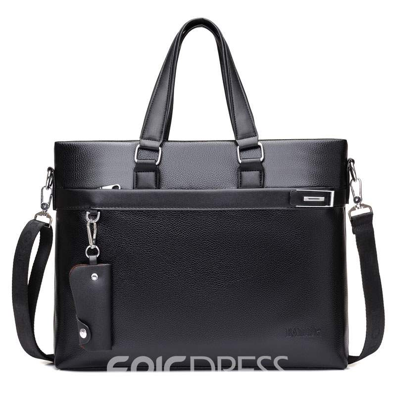 Ericdress Thread Plain PU Men's Tote Bags