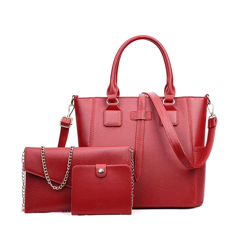 Ericdress Solid Color Thread Decorated Handbags (3 Bags)