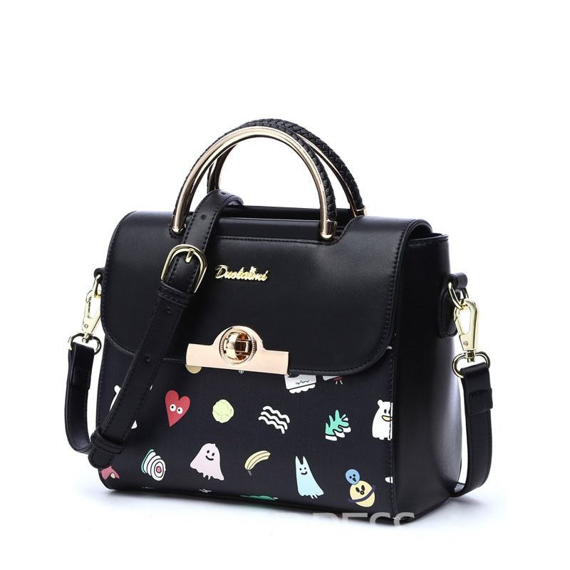 Ericdress All Match Stereo Cartoon Print Handbag