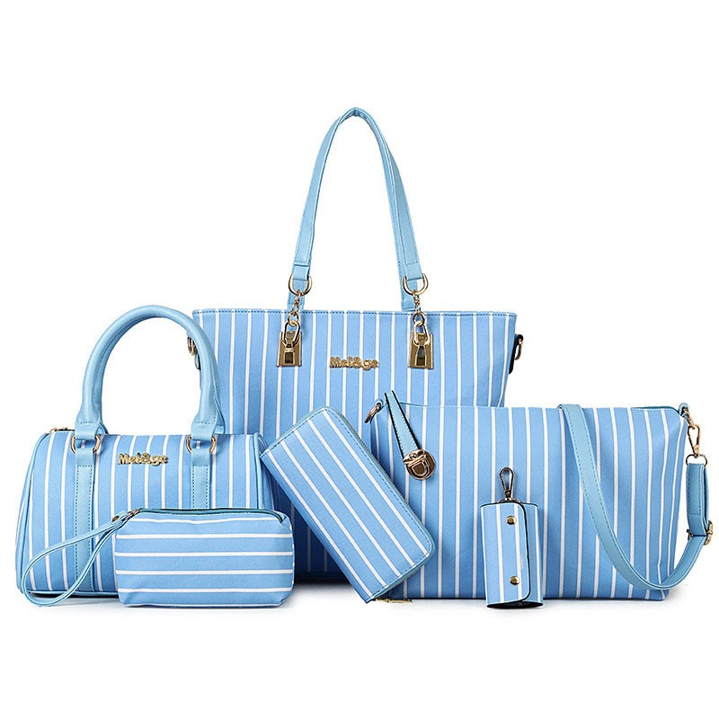 Ericdress Solid Color Vertical Stripes Handbag(6 bags)