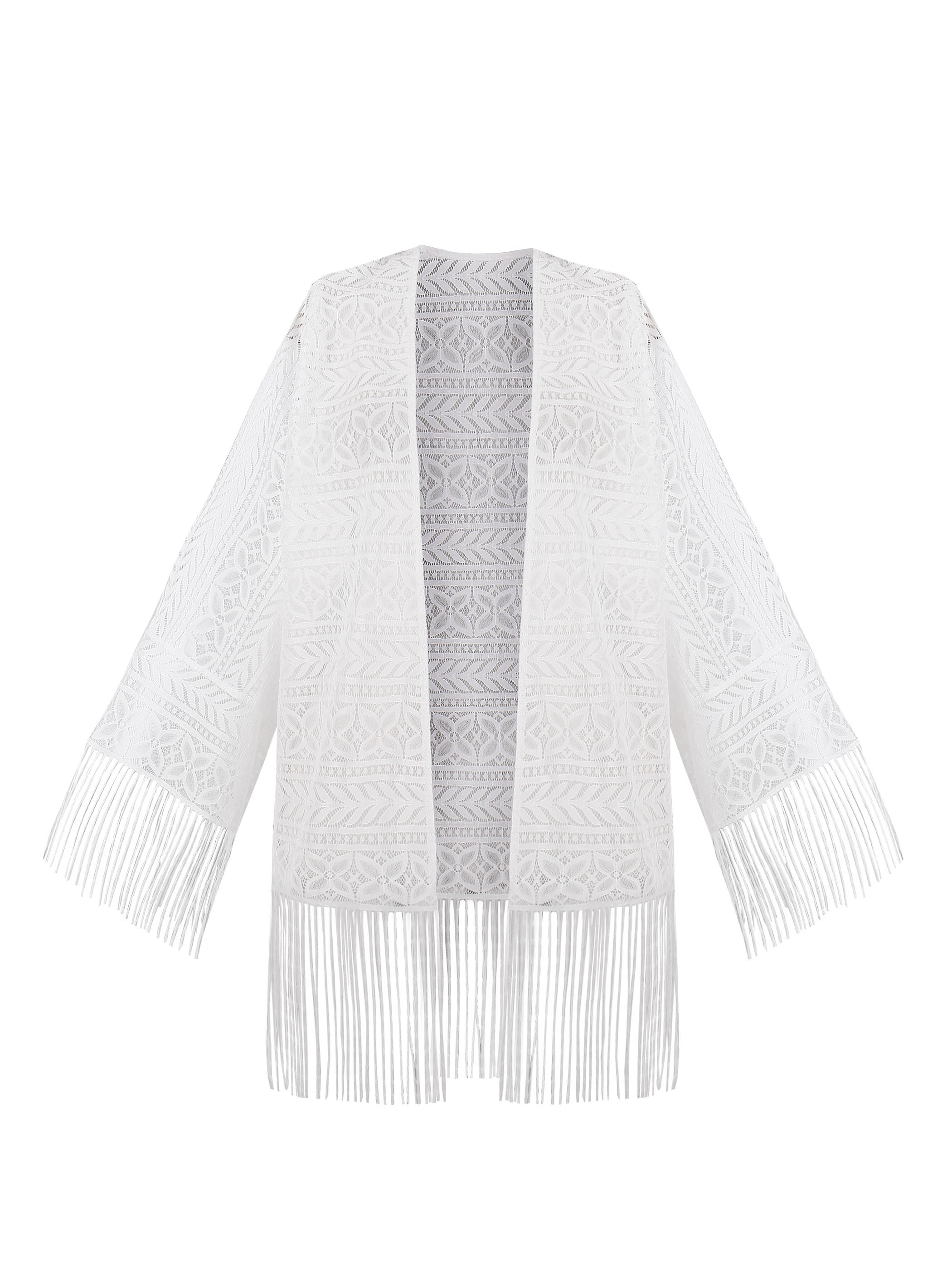 Ericdress Tassel Hollow Lace Long Sleeves Blouse