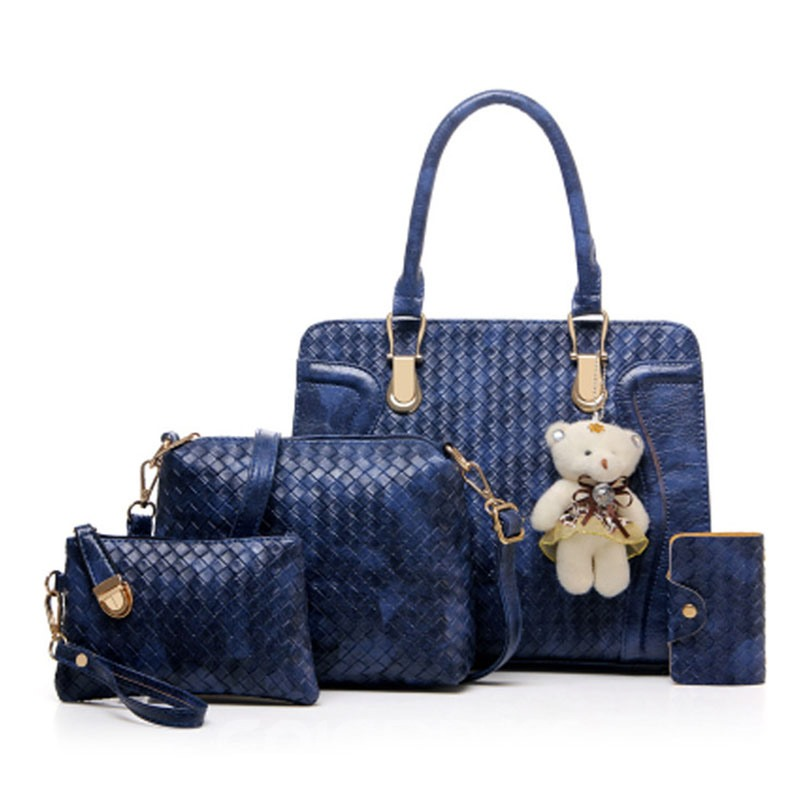 Ericdress Big Capacity Knitted Pattern Handbag(4 bags)